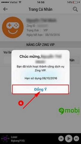 kich hoat Zing Mp3 vip Free cho iPad