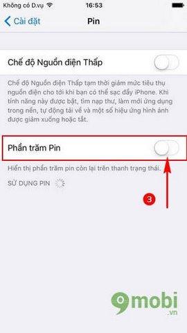 cach xem phan tram pin tren iPhone 7
