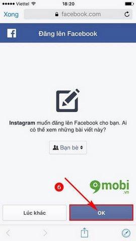 linked account instagram tren dien thoai