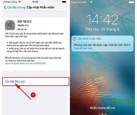 cap nhat iOS 10.0.2