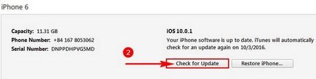 update iOS 10.0.2 qua iTunes
