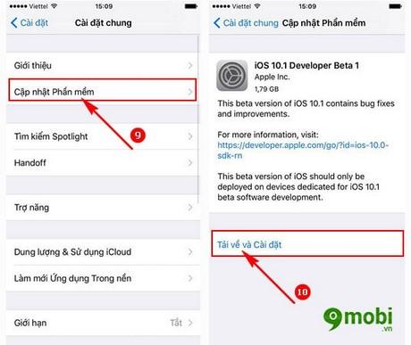update iOS 10.1 beta