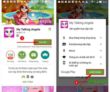 cach cai dat My Talking Angela cho Android