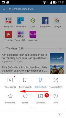 huong dan tat notification UC Browser mini