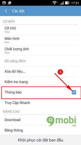 tat thong bao uc browser mini
