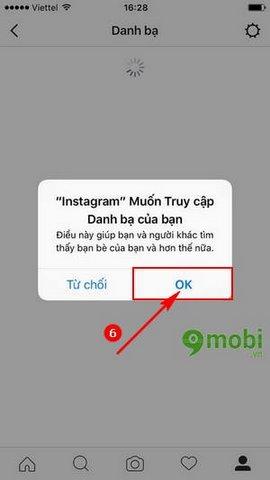 Cách tìm bạn instagram qua danh bạ điện thoại