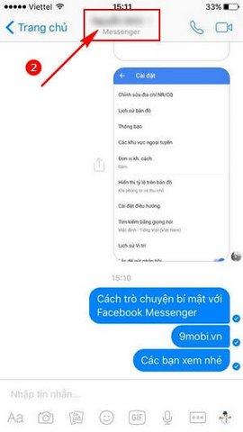 cach tro chuyen bi mat tren Facebook Messenger