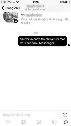 secret conversation tren facebook Messenger