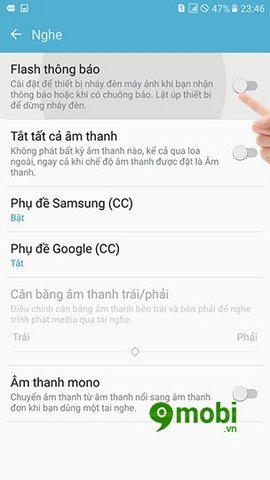 cach bat den flash thong bao android