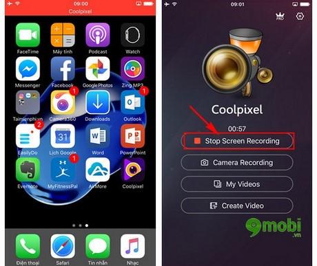 cach quay video man hinh tren iOS 10.2