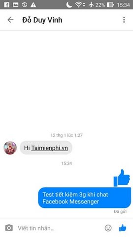 tiet kiem 3g khi chat facebook messenger