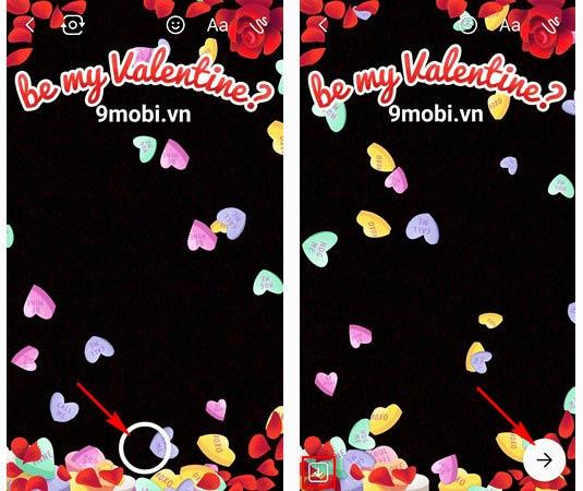 chup anh valentine tren facebook messenger
