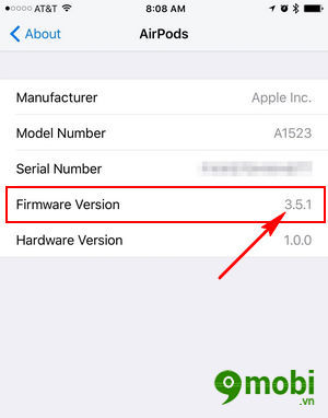 update firmware airpod