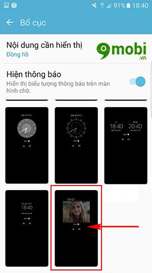 dat anh dai dien len always on Samsung S7 Edge