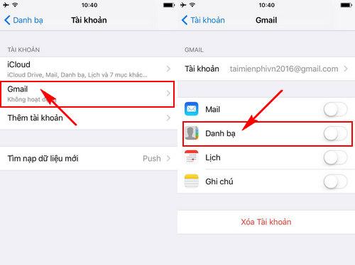 cach dong bo hoa danh ba iphone 5 6 len gmail