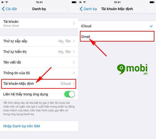 dong bo danh ba iphone 4 5 6 lên gmail