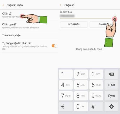 Cách chặn tin nhắn trên Samsung Galaxy C9 Pro, chặn SMS rác