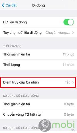 phat wifi tu iphone sang dien thoai may tinh