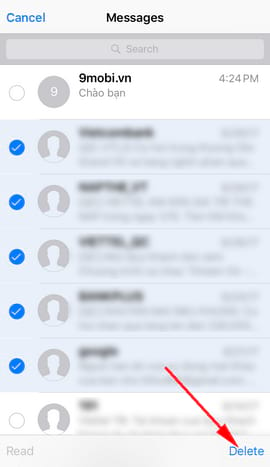 xoa tin nhan iphone