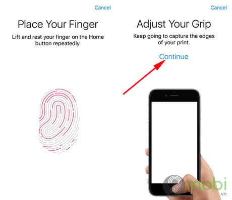 bat khoa van tay touch id iphone