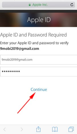 how to create icloud account on android