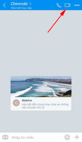 gọi video Zalo tren iphone