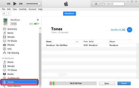 cai nhac chuong iphone bang itunes
