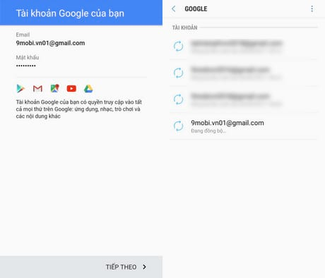 dang ky gmail tren android
