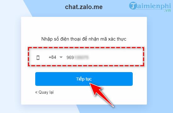 hướng dẫn khôi phục mật khẩu zalo pc trên web