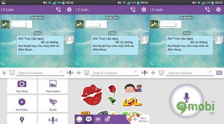 cach su dung viber tren android, ios ,windows phone