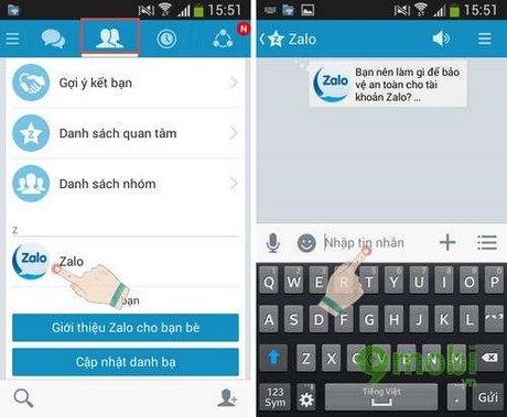 cach su dung zalo tren android, ios, windows phone