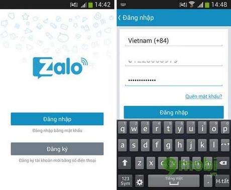 Manual Zalo on Android / iOS / WinPhone