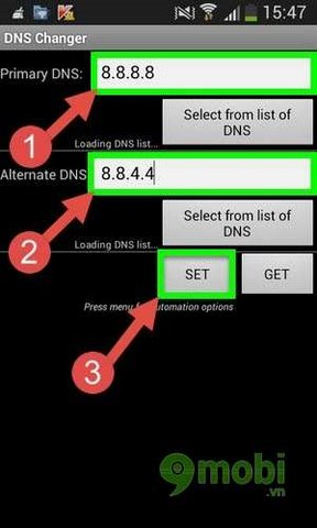 doi dns google android