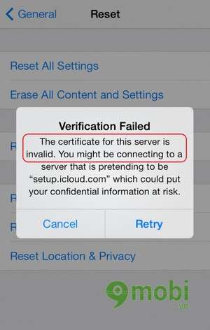 sua loi cannot connect to app store tren ios 7 dien thoai iphone 5, 4s, 4