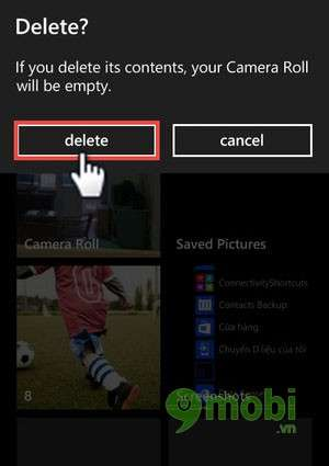 xoa nhanh du lieu trong camera roll cua windows phone