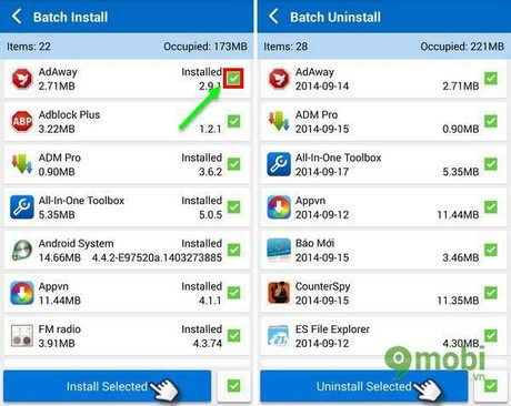 batch install and batch uninstall