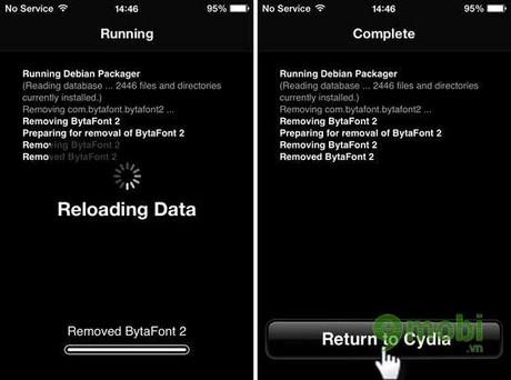 go bo ung dung trong cydia tren iphone