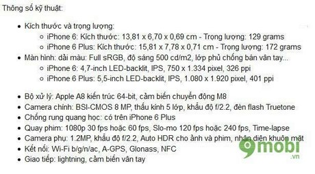 iphone 6 and iphone 6 plus information