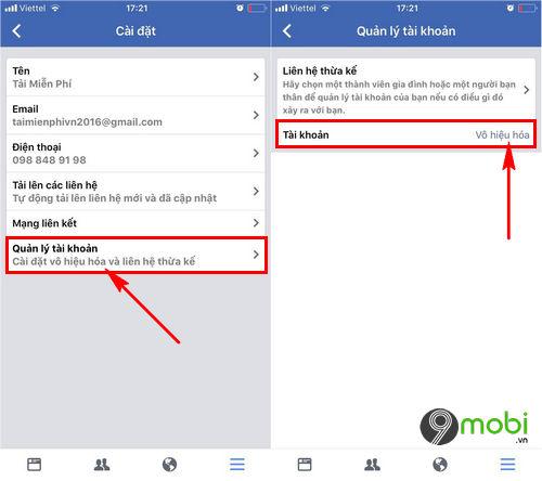 xoa tai khoan Facebook tren iOS