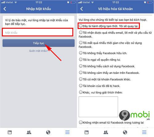 cach xoa tai khoan Facebook tren iPhone