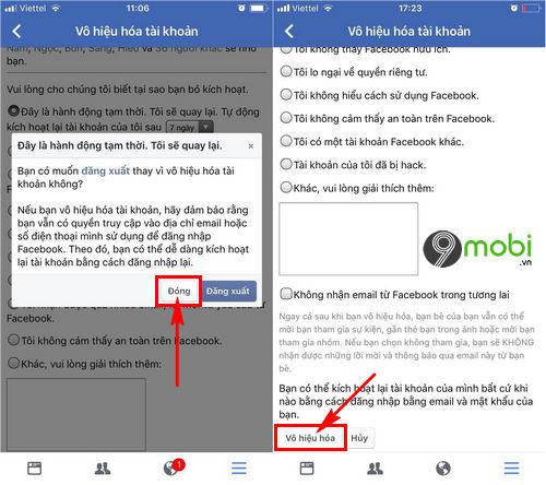 cach xoa tai khoan Facebook iOS
