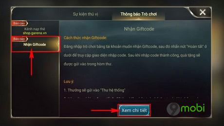 cach nhan code lien quan mobile