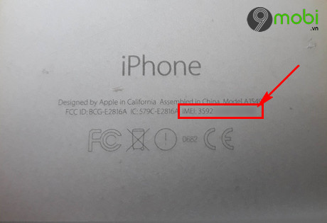 cach lay imei iPhone