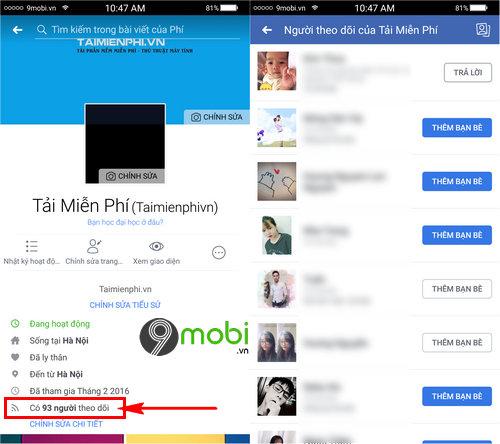 kiem tra theo doi Facebook cho Android