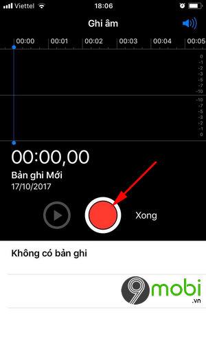cach ghi am tren iPhone
