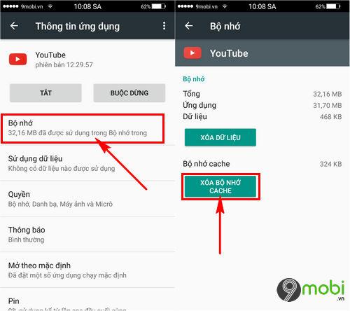 sua loi khong xem video Youtube duoc