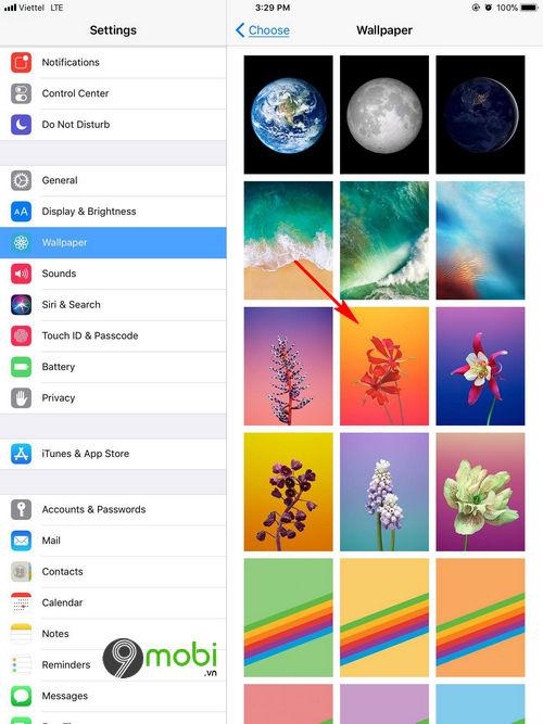 doi hinh nen iOS