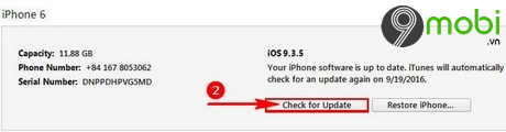 nang cap iOS 10 tren iPhone