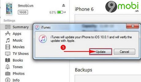 cap nhat iOS 10
