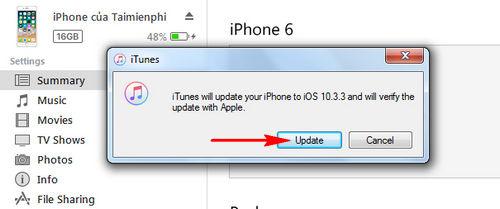 cach ha cap iOS 11.0.1